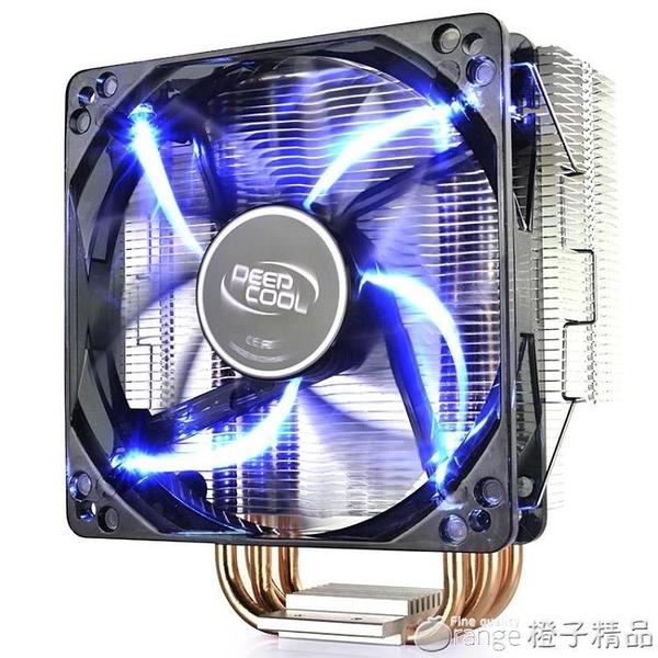 九州風神玄冰400 CPU散熱器主機風扇銅管1155靜音AMD台式電腦AM4『橙子精品』