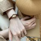 韓國休閑時尚橢圓小表盤IG復古皮帶石英表小眾手表女【小獅子】