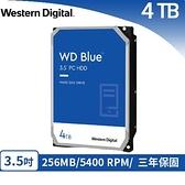 WD 威騰 WD40EZAZ 藍標 4TB 3.5吋SATA硬碟
