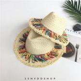 沙灘帽子女夏天海邊度假出游草帽韓版 LQ3476『小美日記』