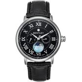 【BENTLEY】賓利 Denarium系列 羅馬星辰風尚手錶 (黑/黑 BL1690-10011)