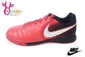NIKE足球鞋 中大童 低筒 皮革 JR Tiempox Ligera IV IC 運動鞋O7017#紅◆OSOME奧森童鞋/小朋友