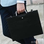 韓版男包英倫復古包男士女士手袋Ipad公文包手提單肩文件包商務包 扣子小鋪