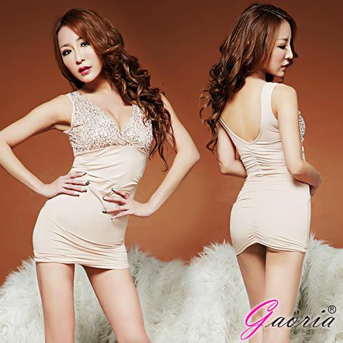 情趣睡衣 性感睡衣 Gaoria 歐系名媛 情趣包臀夜店衣 膚 N3-0088 +潤滑液60ML