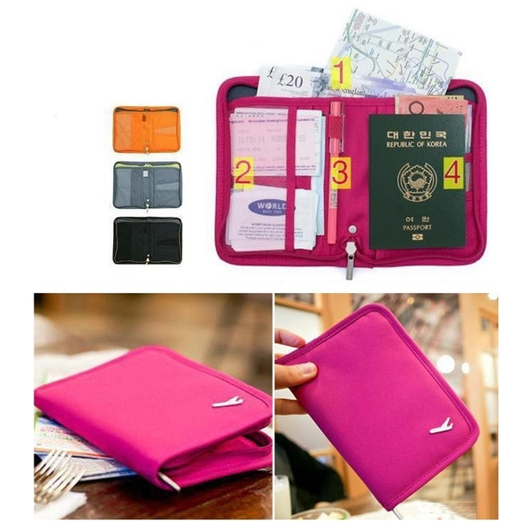 韓版短款護照包 旅行多功能收納包 護照包 護照套 護照夾【AE16024】99愛買小舖