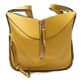 LOEWE 羅威 黃色牛皮手提斜背兩用包 Small Hammock Bag【二手名牌 BRAND OFF】