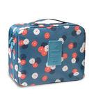 北歐風旅行收納包化妝包收納袋-藍色花朵...