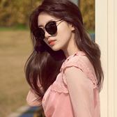太陽鏡墨鏡女2019新款正韓潮網紅偏光圓臉復古風眼鏡太陽鏡