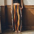 泰國沙灘褲海邊度假波西米亞民族風女夏條紋寬鬆防蚊寬管褲長褲 黛尼時尚精品