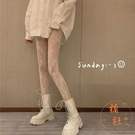 蕾絲絲襪女日系法式復古鏤空花朵洛麗塔打底連體褲襪【橘社小鎮】