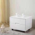 床頭櫃 白色烤漆床頭柜簡約現代收納柜迷你...