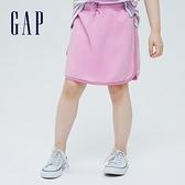 Gap女童 甜美繫帶法式圈織短裙 697690-粉色