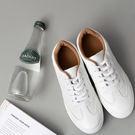 DE shop~(NN-9955)百搭小白鞋女繫帶韓版透氣女鞋運動休閒鞋平底學生板鞋