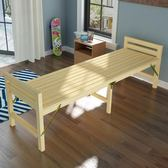 實木兒童拼接折疊床 定制加寬床帶護欄可定做加長小床單人午休床  良品鋪子