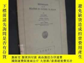 二手書博民逛書店bibliography罕見on the relation of