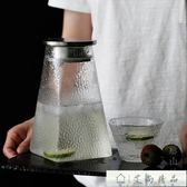 玻璃水壺 加厚防爆錘紋玻璃涼白開水壺