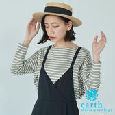 ❖ Hot item ❖ 橫條紋寬版落肩剪裁上衣 - earth music&ecology