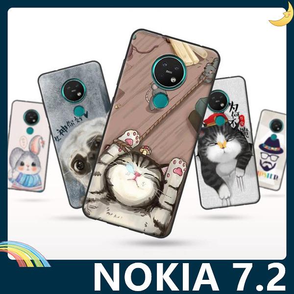 NOKIA 7.2 彩繪Q萌保護套 軟殼 卡通塗鴉 超薄防指紋 全包款 矽膠套 手機套 手機殼 諾基亞