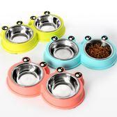 寵物食盆 小大型犬貓咪糧大號喂喝水不銹鋼寵物飯盆 GY682『寶貝兒童裝』