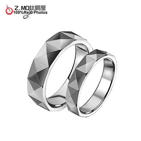 [Z-MO鈦鋼屋]鎢鋼菱格戒指/精緻切割設計/情人節對戒推薦【BKW169】