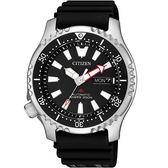 【台南 時代鐘錶 CITIZEN】星辰 Promaster 兩百米潛水錶機械錶 NY0080-12E 黑面 橡膠帶 42mm