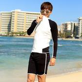 男泳裝 雙色 拼接 運動 防曬 外套 兩件套 男 長袖 泳裝【SFM2125】 ENTER  05/17