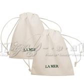 【17go】LA MER 海洋拉娜 絲絨收納束口袋(象牙白)*2