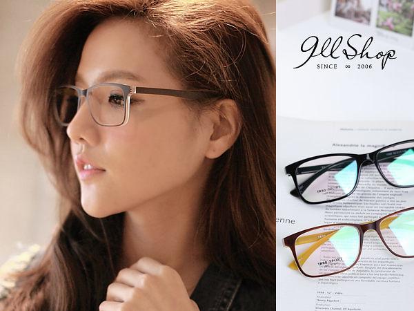 Cheer.TR90塑膠鈦果凍透感方框光學配鏡框眼鏡【p619】*911 SHOP*