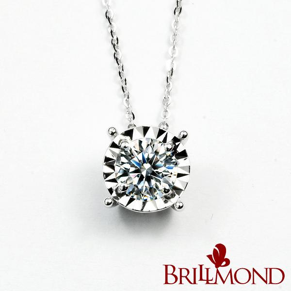 鑽石項鍊 BRILLMOND 璀璨光芒GIA 30分鑽墜(D/VVS1 18K白金)