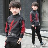男童毛衣 男寶寶套頭毛衣 男童針織加絨打底衫 冬季保暖毛衣
