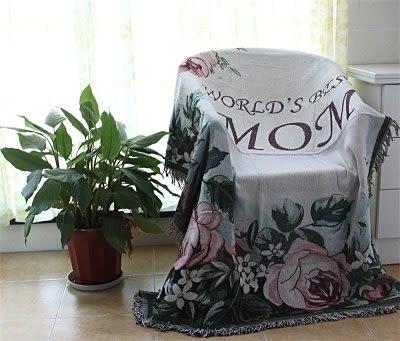 歐式田園沙發巾 裝飾毯 休閑毯 線毯 挂毯 沙發毯床毯