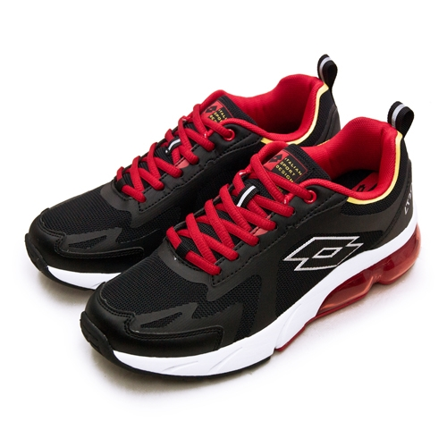 LIKA夢 LOTTO 專業避震氣墊慢跑鞋LT20系列 黑紅 2390 男