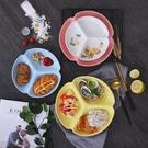 日式餐具家用分格盤創意陶瓷分菜盤三格分餐盤早餐碟子【輕奢時代】