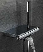 【麗室衛浴】美國 KOHLER   APARU系列   定溫淋浴龍頭 瀑布式浴缸出水 K-9113T-CP