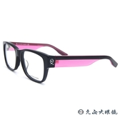 McQ Alexander Mcqueen 眼鏡 MCQ0042F (黑-透粉) 繽紛系列 近視眼鏡 久必大眼鏡