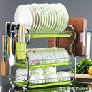 三層廚房置物架兩層瀝水碗碟架放碗洗碗滴水...