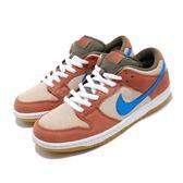 Nike 滑板鞋 SB Dunk Low Pro Corduroy Dusty 咖啡 藍 膠底 燈心絨 運動鞋 男鞋 【PUMP306】 BQ6817-201