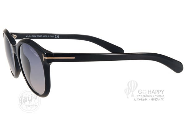 TOM FORD 太陽眼鏡 TOM0298 C01B (黑) 歐美時尚簡約唯美款 # 金橘眼鏡