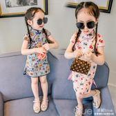 女童連身裙夏季兒童洋氣裙子1-3歲5夏裝女寶寶旗袍公主裙 深藏blue