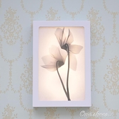 現代透明花裝飾畫壁燈LED床頭壁畫燈時尚簡約樓梯燈過道燈床頭燈 【免運快出】