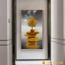入門玄關裝飾畫豎版走廊盡頭過道壁畫北歐客廳現代簡約玄幻掛畫【小橘子】