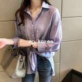 簡約小寬鬆口袋襯衫 CC KOREA ~ Q17667