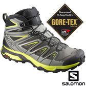 男 X ULTRA 3 GTX 防水中筒登山鞋『白鯨灰/倒影黑/硫淡黃』398673 GORE-TEX