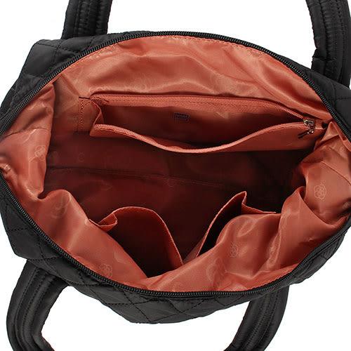CLATHAS 山茶花輕量菱格紋手提斜包兩用包(黑色)201007-10