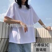 短袖T恤純棉黑白色短袖t恤女夏2020寬松韓版大碼多色超火 【小檸檬】