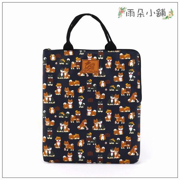 電腦包 包包 防水包 雨朵小舖M287-361 13吋筆電包(直式)-深藍公事包柴犬13184 funbaobao