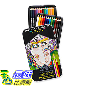 [106美國直購]  Prismacolor 24色鉛筆 Premier Colored Pencils, Soft Core, 24-Count TB0