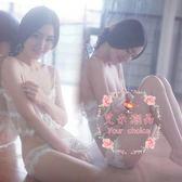 蕾絲性感透明睡衣女吊帶情趣內衣 【S-XL/雙色】