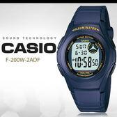 CASIO 前衛俐落 40mm/F-200W-2A/casio/最佳禮物/NY/F-200W-2ADF 現貨 熱賣中!