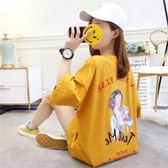 新款夏季韓版寬鬆中長款學生T恤百搭上衣服潮